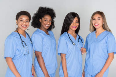 Nurses who are working in a hospital together